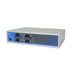 VScom USB-4COM Plus a quad port USB-to-Serial adapter for RS232/422/485