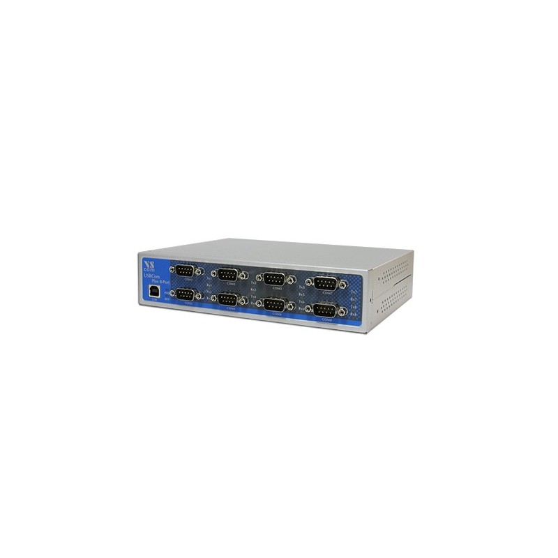 VScom USB-8COM Plus an octal port USB-to-Serial adapter for RS232/422/485
