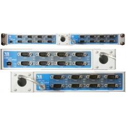 VScom USB-16COM Plus a sixteen port USB-to-Serial adapter for RS232/422/485
