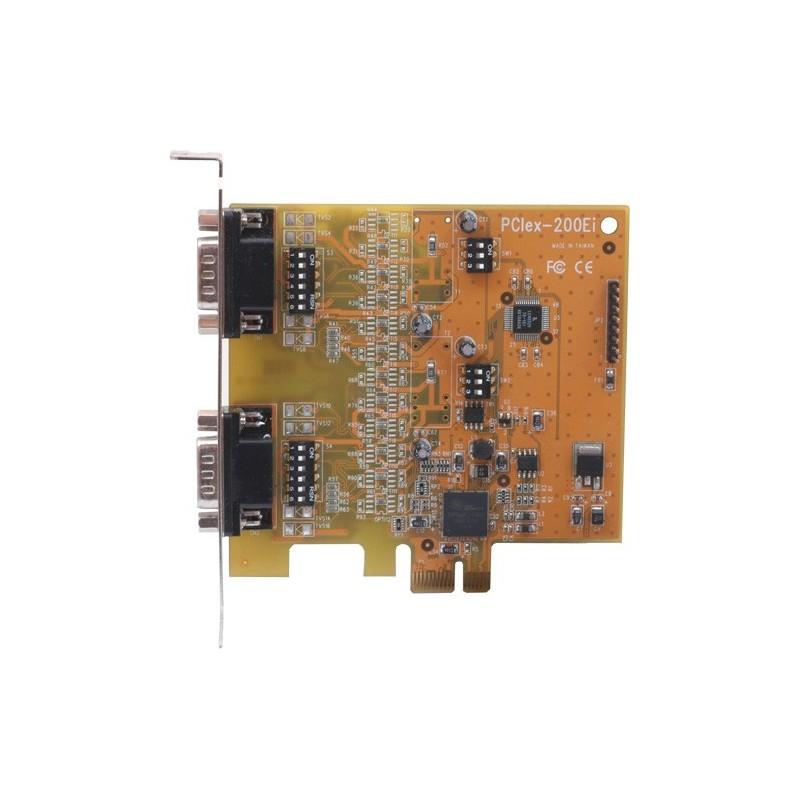 VScom 200Ei PCIex a 2 Port RS232 RS422/485 PCI Express x1card 16C950 UART
