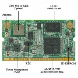 SOM-AM335x SOM with Ti Sitara ARM RISC Cortex-A8 in SODIMM-204 format