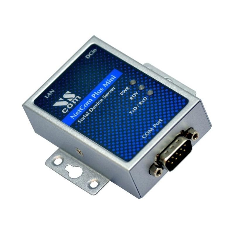 VScom NetCom+ (Plus) 111 Mini a single port Serial Device Server for Ethernet/TCP to RS232