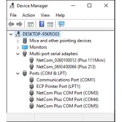 NetCom Plus Mini in Device Manager