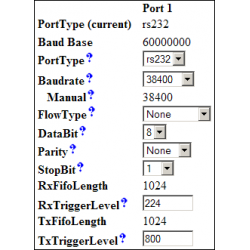 Serial Port in Web Interface