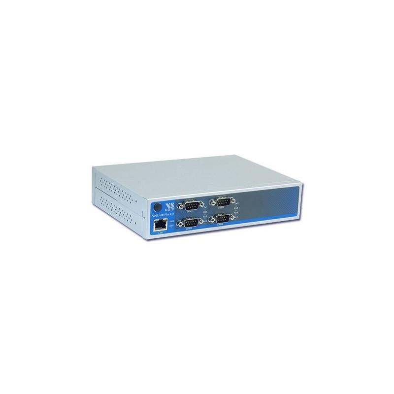 VScom NetCom+ (Plus) 413 a quad port Serial Device Server for Ethernet/TCP to RS232/422/485